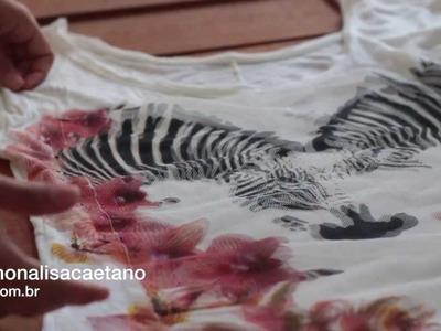 DIY   Como restaurar roupa furada ou manchada