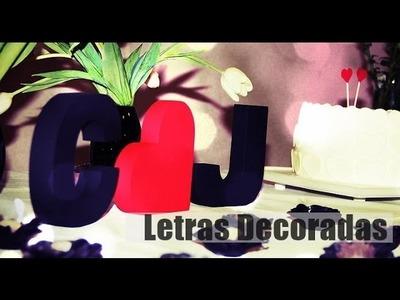DIY - Letras 3D Decoradas - Dia dos Namorados