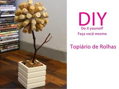 DIY   topiario de rolhas