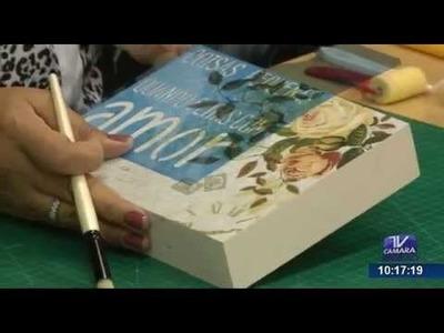Programa Artesanato sem Segredo (24.08.15) - Scrapdecor com stencil
