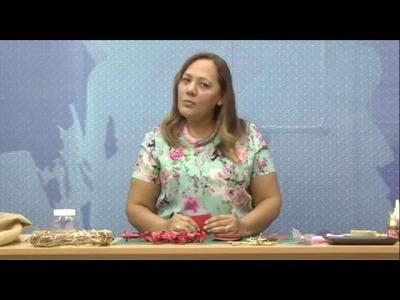 Programa Artesanato sem Segredo (14.12.15) - Flor de Natal (Guirlanda)