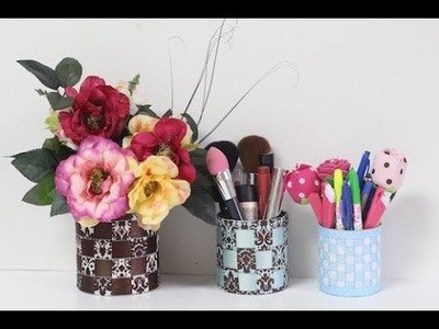 DIY - Latas decoradas com FITAS