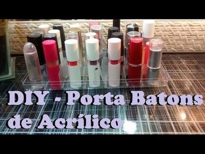 DIY - Porta Batons de Acrílico com Caixa de Ferrero Rocher