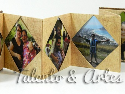 DIY - Porta Retrato Sanfonado Passo a Passo.