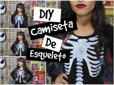 DIY - Camiseta de Esqueleto