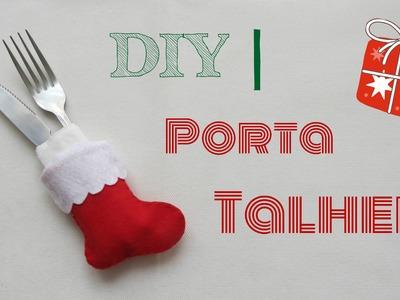 DIY  |   Porta Talher   - Bota do Papai Noel