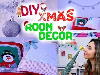 DIY: Xmas Room Decor - almofadas sem costura, árvore de linha, porta vela. | Paula Souza