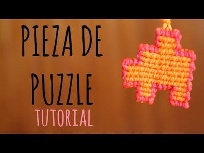 Pieza de puzzle. Tutorial macramé ♥︎