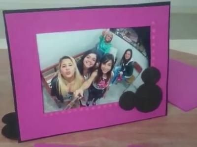 Porta retrato de EVA Fazendo a festa da Minnie ou Mickey - #DIY