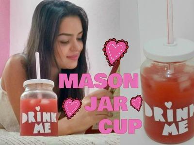 DIY: Copo Pote | Mason Jar Cup