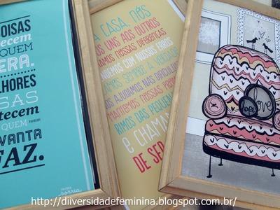 DIY - Quadros + Posters Decorativos