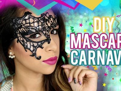 DIY: Máscara Rendada de Carnaval
