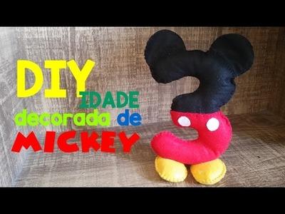 Preparativos para festa Mickey - DIY: Número Personalizado