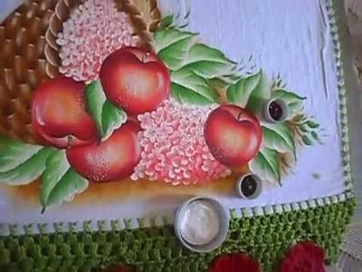 Ensinando a pintar maçã vermelha com lia ribeiro