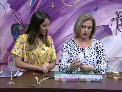 Mulher.com - 14.08.2015 - Taça decorada com pedrarias - Andrea Tinoco PT2