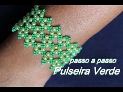 NM Bijoux - Pulseira Verde de Pérolas