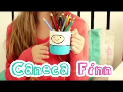 Customização de caneca Finn - Hora de Aventura