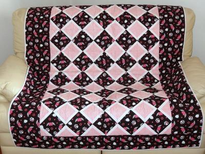 """Manta.colcha em patchwork foundation """"Pink"""" - Maria Adna Ateliê - Cursos e aulas de patchwork"""