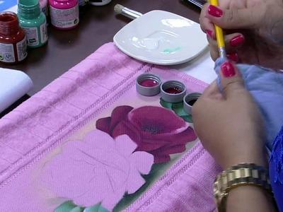 Mulher.com - 26.11.2015 - Pintura de rosas - Ana Laura Rodrigues PT1