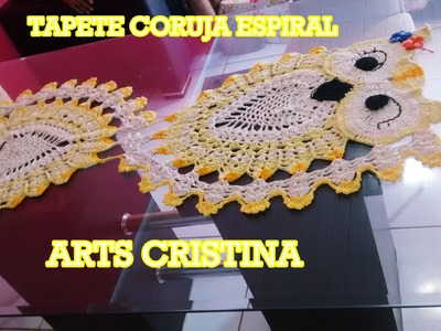 TAPETE CORUJA ESPIRAL CROCHE - ARTS CRISTINA ALFOMBRA OWL ESPIRAL
