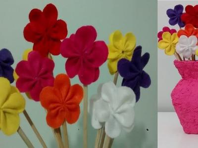 Como fazer flores de feltro!!!