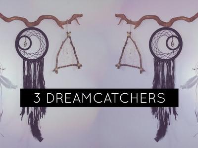 DIY: 3 DreamCatchers Tumblr Style | 3 Filtros dos Sonhos