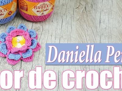 "Flor de crochê - Daniella Perez "" Soraia Bogossian"""