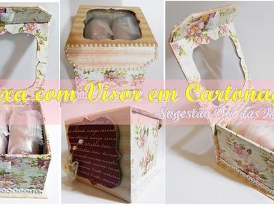 Caixa Livro com visor em Cartonagem - *Sugestão dia das Mães- Box cartonnage