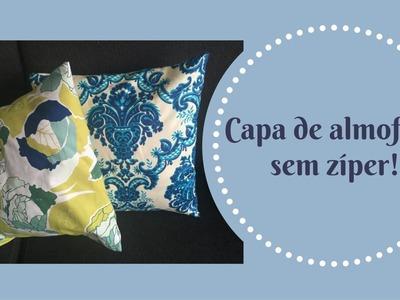 Como fazer capa para almofada sem zíper - Cristina Versluis