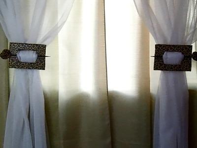 Como fazer um prendedor de cortina fácil-Por Miscelâneas da Grazi