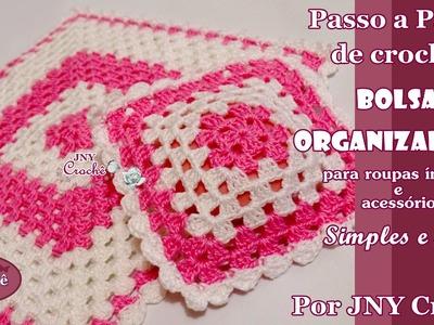 PAP de crochê Bolsa organizadora #2 por JNY Crochê