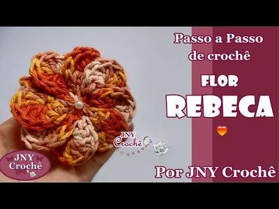 PAP de crochê Flor Rebeca por JNY Crochê
