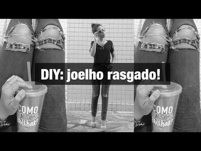 DIY: CALÇA RASGADA NO JOELHO