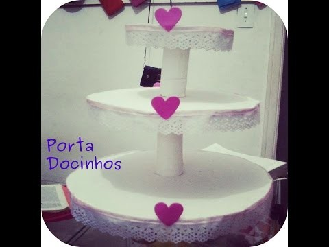 Diy - Porta docinhos. cupcake