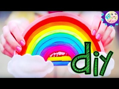 Diy Volta ás aulas - Bolsinha de lápis em forma de arco íris- Rainbow pencil case|Tatiane Xavier