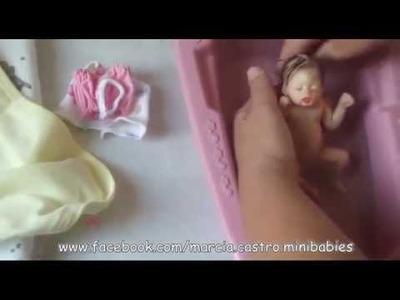 Bebê de silicone em miniatura - Full Body mini baby platinum silicone