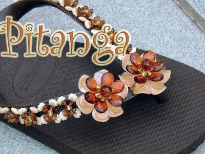 Chinelo decorado - Flor de pitanguinha