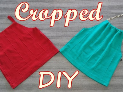 Cropped halter top Diy - Transforme saia em cropped - Suellen Redesign