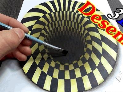 Desenhando um buraco 3D -  How to draw a hole 3D