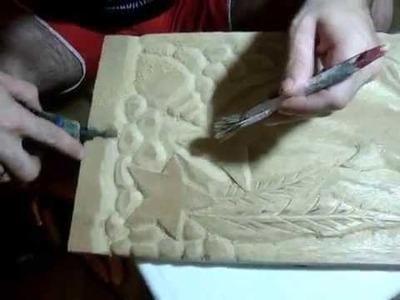 Dremel micro retífica -Entalhe em madeira parte 2