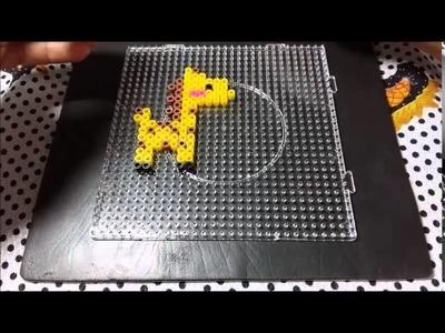 Girafa Perler beads