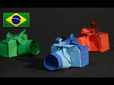 Origami: Câmera Fotográfica - Instruções em Português PT BR