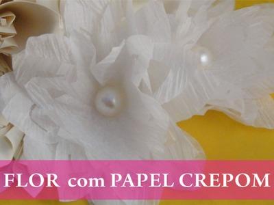 Passo a Passo Flor em papel crepom