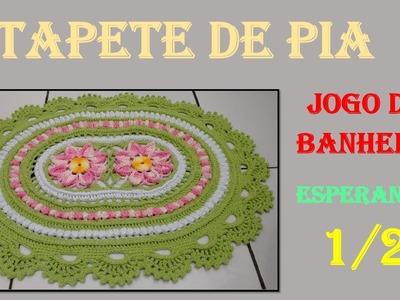 Tapete de Crochê Jogo de Banheiro Esperanza 1.2 por Wilma Crochê