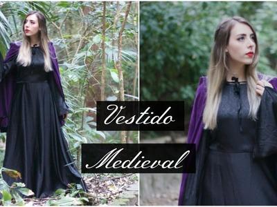 Vestido Medieval com saia godê | Modelagem e Costura