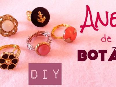Como fazer Anel de botão - DIY button ring