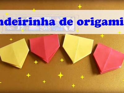 COMO FAZER BANDEIRINHA DE SÃO JOÃO DE ORIGAMI  MODELO 2