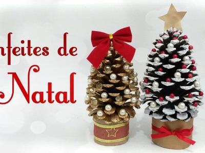Como fazer Enfeites de Natal utilizando pinhas - 3 ideias