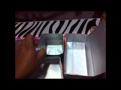 Faça Você Mesmo: Caixa Organizadora de Makes com Caixa de Leite
