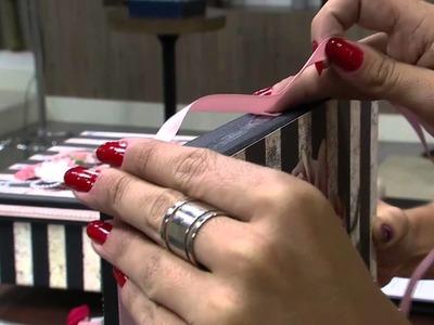 Mulher.com 27.02.2015 Marisa Magalhães - Caixa com scrapdecor Parte 2.2